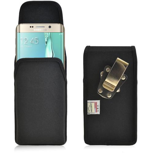 Galaxy S6 Edge Plus Vertical Nylon Holster Metal Belt Clip
