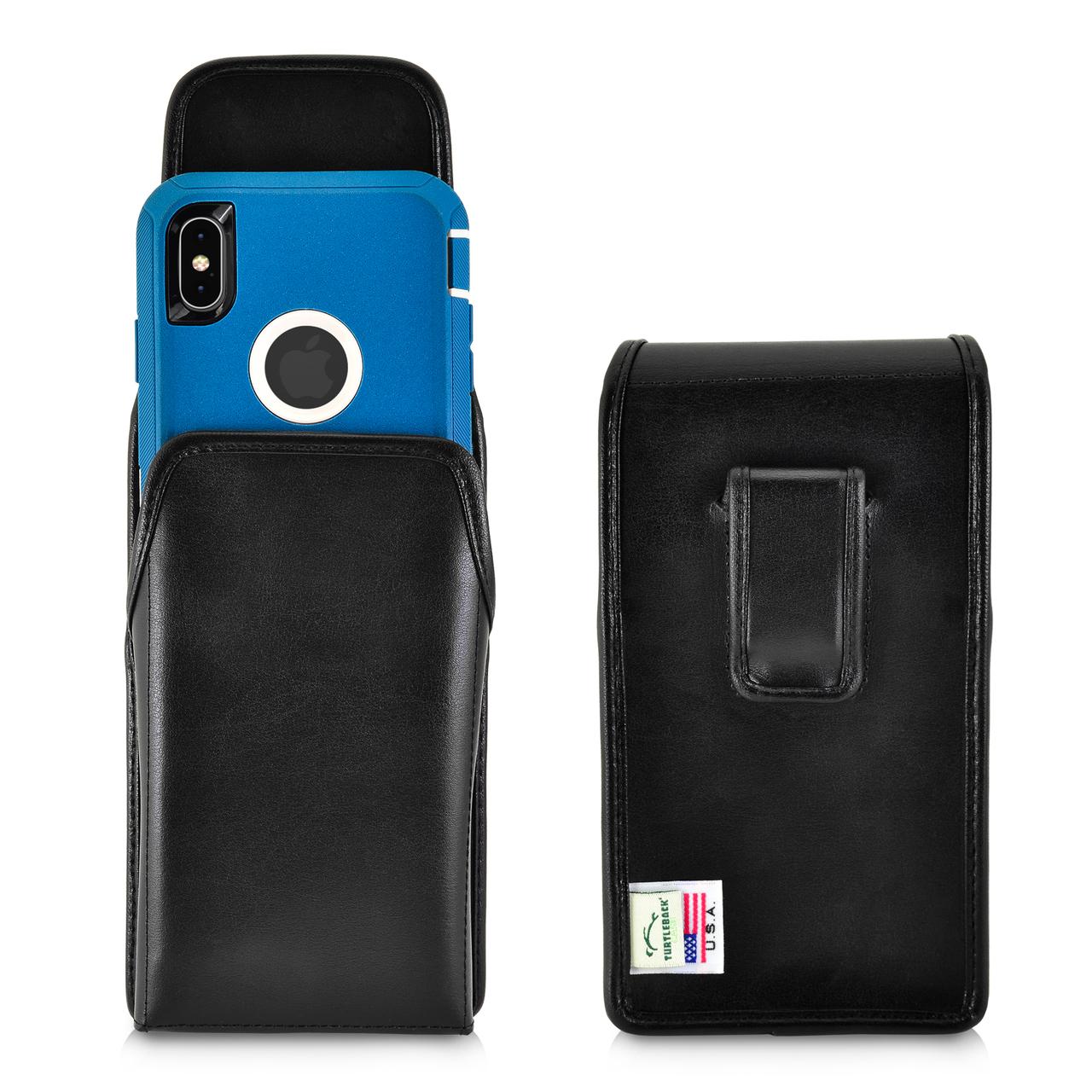 watch 9d174 25910 iPhone XS MAX (2018) Fits with OTTERBOX DEFENDER Vertical Belt Case Black  Leather Pouch Executive Belt Clip