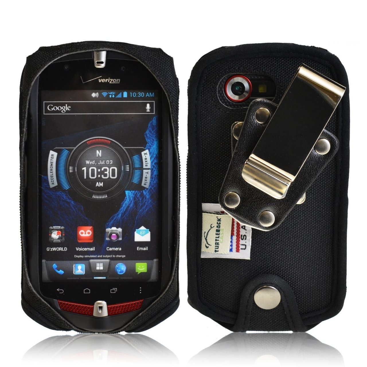 buy online d5445 ef4f0 Casio GZ1 Commando 4G LTE C811 Heavy Duty Case with Rotating Metal Belt Clip