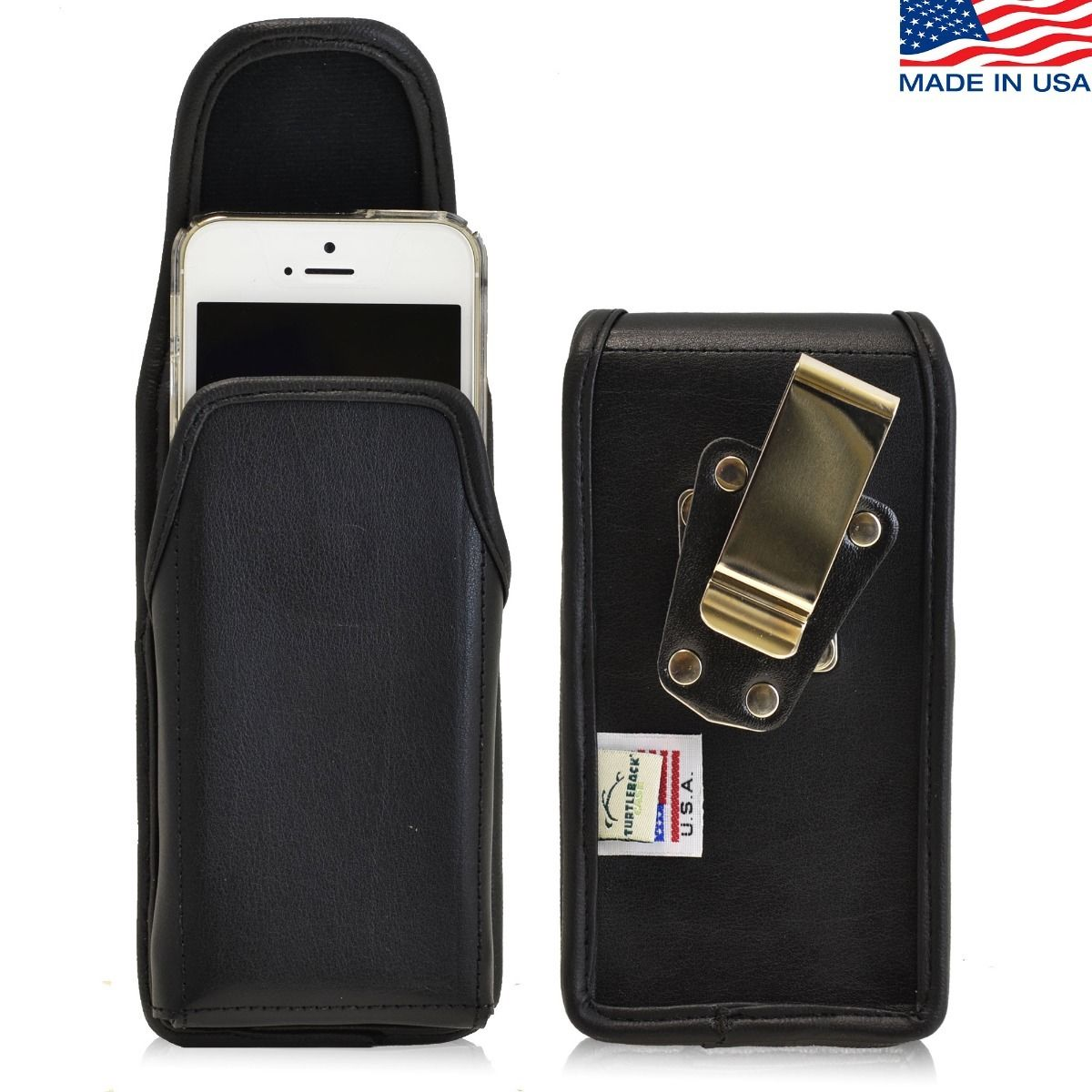 the best attitude f8441 d8a7f iPhone 5/5S/SE Vertical Leather Rotating Clip Holster