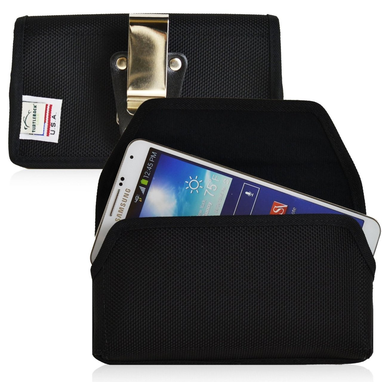 premium selection 43874 74b0b Horizontal Nylon Extended Holster for Samsung Galaxy S3 III with Bulky  Cases, Metal Belt Clip