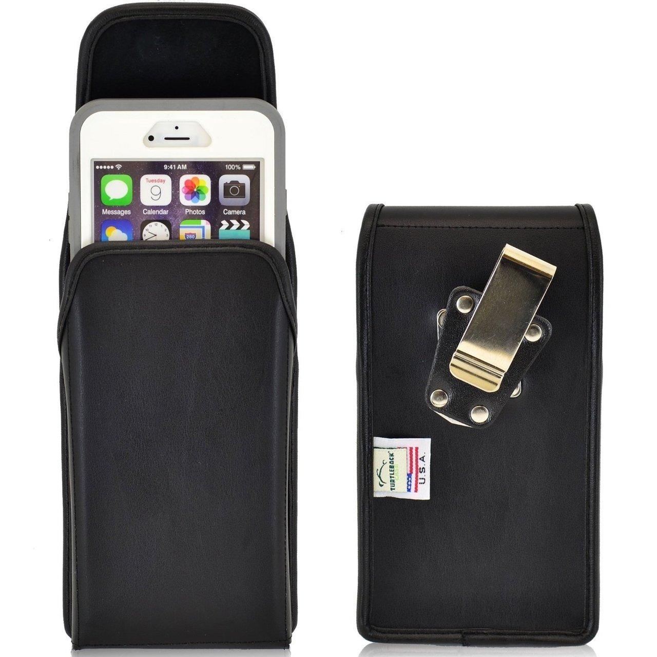 the latest feebb 89566 iPhone 6 Plus/6S Plus Extended Vertical Leather Rotating Clip Holster