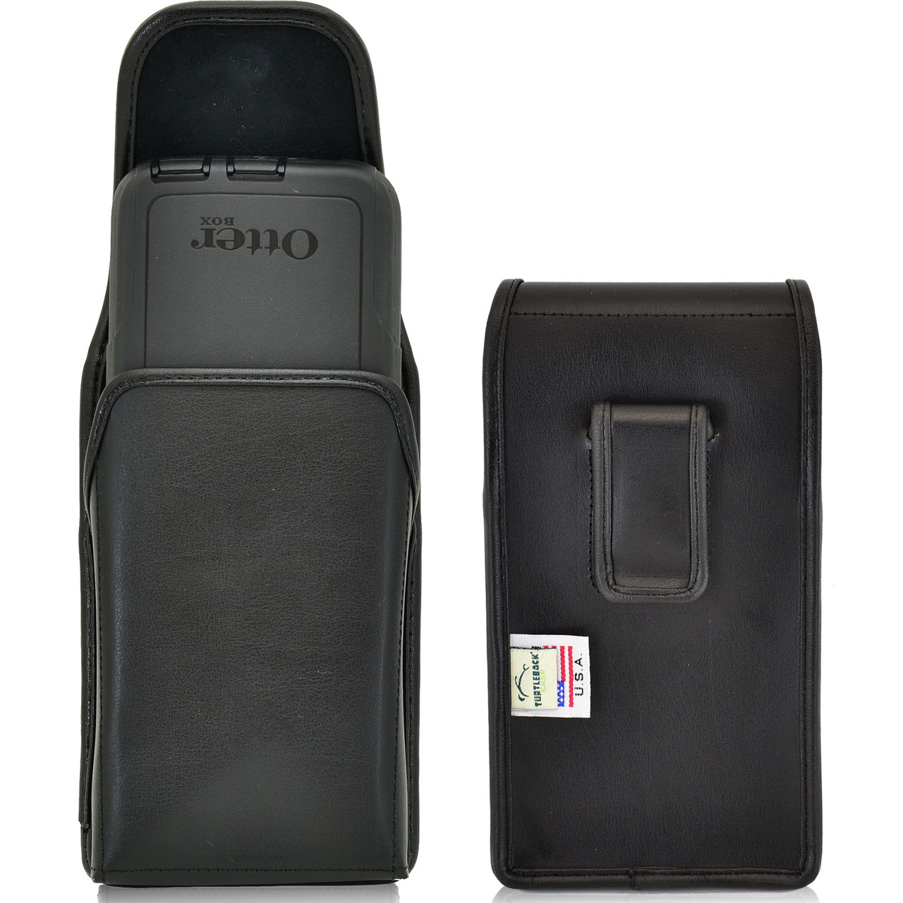 f86982846a3 Vertical Leather Extended Holster for Samsung Galaxy S6 and S6 Edge with  Bulky Cases
