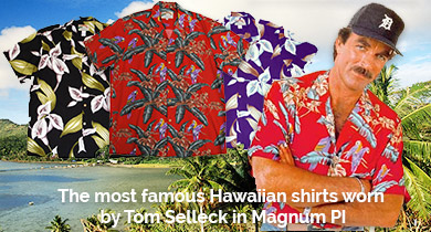 Hawaiian Shirts made famous in Magnum PI
