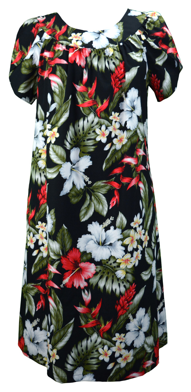 6048a77e03bd RJC Women's Hibiscus Ginger Heliconia Muumuu Dress - OhanaWear