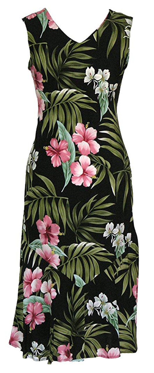 359c0093f7a7 RJC Women's Pale Hibiscus Orchid Long Tank Dress - OhanaWear