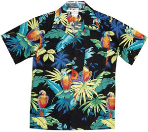 Rjc Jungle Parrots Men S Hawaiian Shirt Also Worn By Max Payne