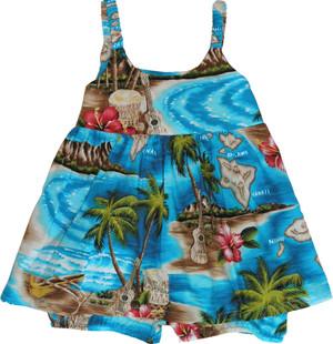 RJC Boys Hibiscus Hawaiian Island 2pc Cabana Set