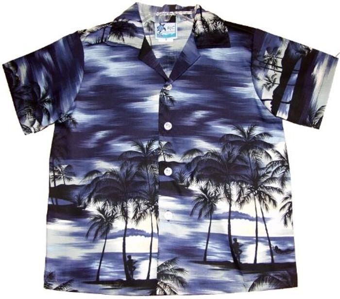 1b1229c8f RJC Boy's Night Time Surf Hawaiian Shirt - OhanaWear