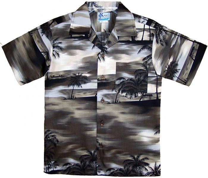 RJC Mens Night Time Surf Hawaiian Shirt