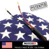 Power Cord, MTX Series, Patented, 20 inches long, DC Plug, 2 Amp Inline Fuse with Military Grade Taps