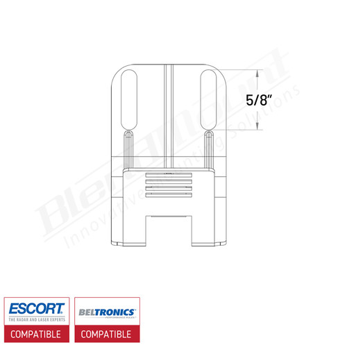 BlendMount BBE-UC2 upgrade clip dimensions