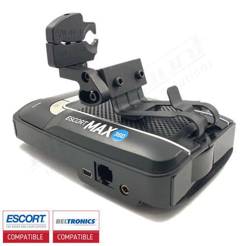 Aluminum Radar Detector Mount for Beltronics GT/Escort Max 360, Max2/Max/Max II, Specialty 2022 Series