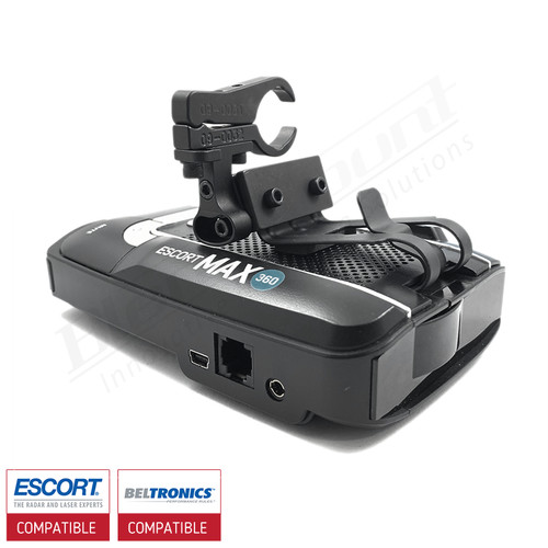 Aluminum Radar Detector Mount for Beltronics GT/Escort Max 360, Max2/Max/Max II, Specialty 2032 Series