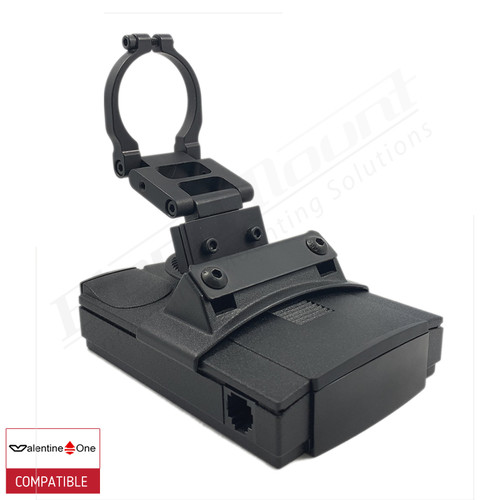 BlendMount BV1-2003R radar detector mount with Valentine One iso view 1