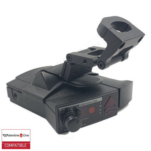 BlendMount BV1-2005R radar detector mount with Valentine One iso view 2