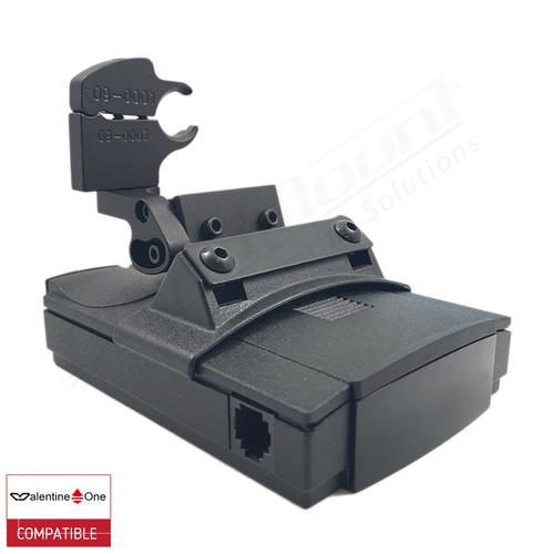 BlendMount BV1-2014 radar detector mount with Valentine One iso view 1