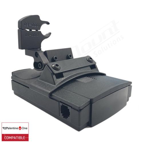 BlendMount BV1-2014 radar detector mount with Valentine One iso view 1