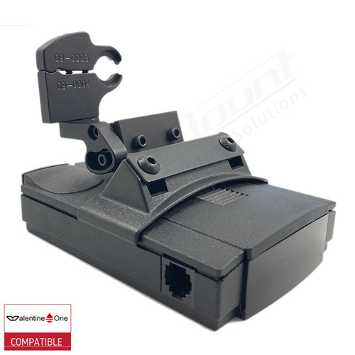 BlendMount BV1-2015 radar detector mount with Valentine One iso view 1