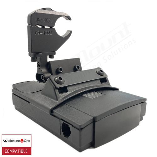 BlendMount BV1-2018 radar detector mount with Valentine One iso view 1