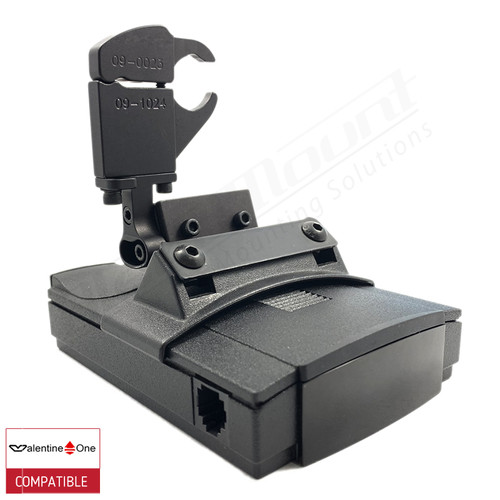 BlendMount BV1-2019 radar detector mount with Valentine One iso view 1
