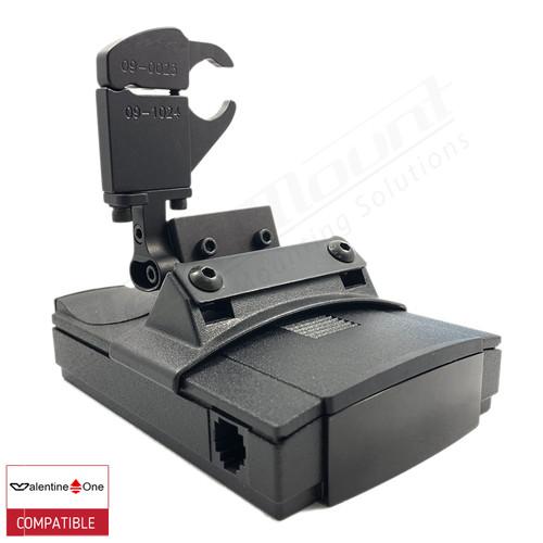 BlendMount BV1-2019 radar detector mount with Valentine One iso view 1