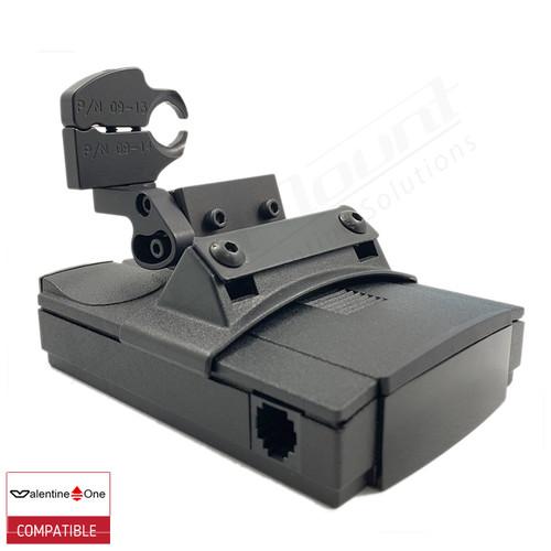 BlendMount BV1-2021 radar detector mount with Valentine One iso view 1