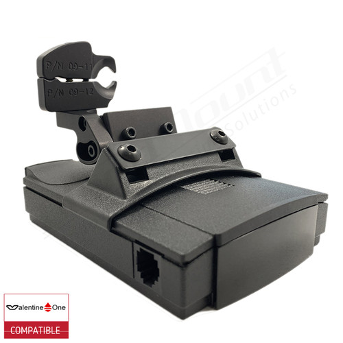 BlendMount BV1-2022 radar detector mount with Valentine One iso view 1