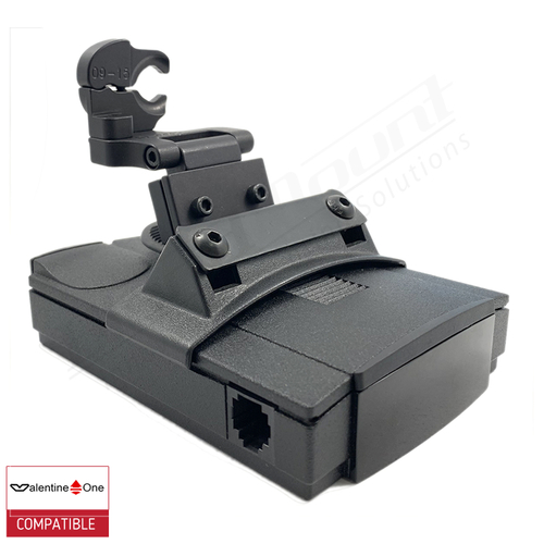 BlendMount BV1-2023 radar detector mount with Valentine One iso view 1
