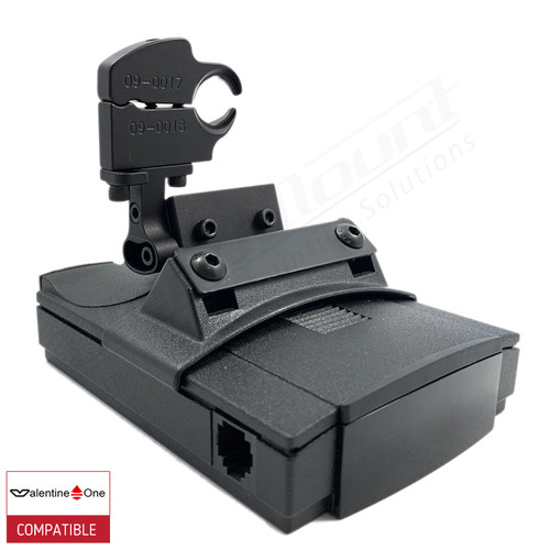 BlendMount BV1-2025 radar detector mount with Valentine One iso view 1