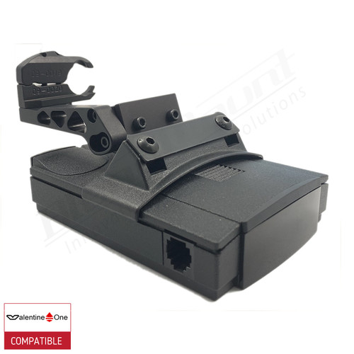 BlendMount BV1-2027 radar detector mount with Valentine One iso view 1