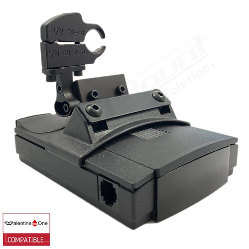 BlendMount BV1-2029 radar detector mount with Valentine One iso view 1