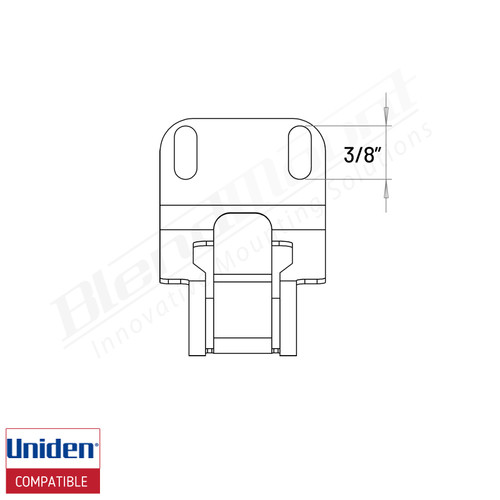 BlendMount Uniden R1/R3 spring clip dimension