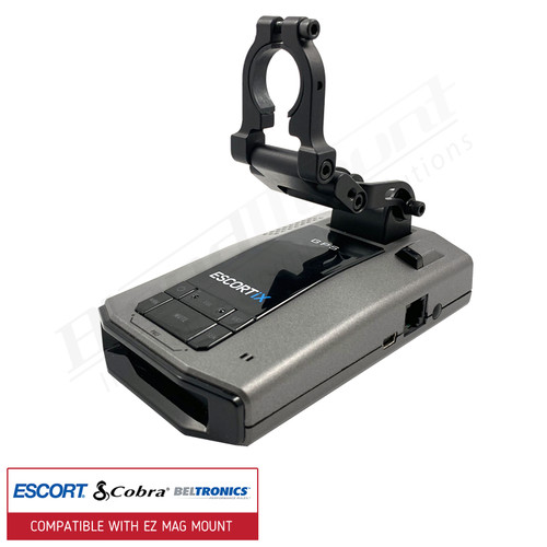 BlendMount BMG-2001R Escort Radar Detector Mount with Escort IX front view