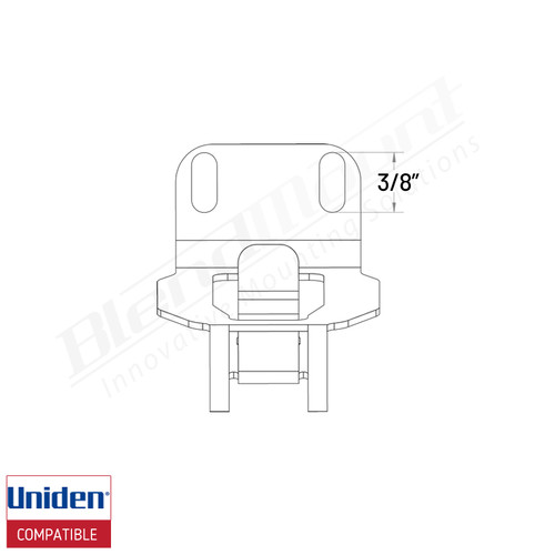 BlendMount BR7-UC3 Uniden R7 clip dimension