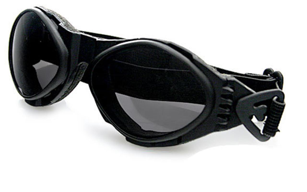 SUNGLASSES BUGEYE BLACK W// SMOKE LENS BOBSTER BA001