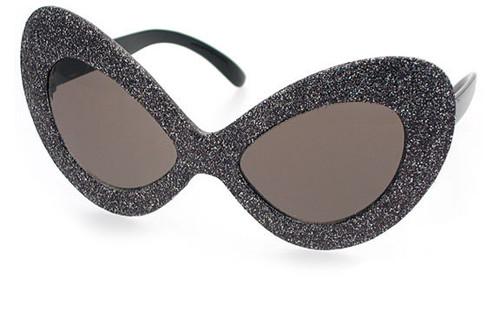 Black Glitter Frame/Smoke Lens