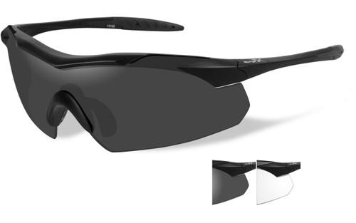 Matte Black Frame/Smoke Grey & Clear Lenses