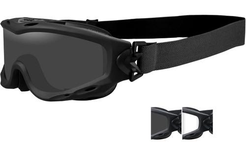Matte Black Frame/Smoke and Clear Lenses