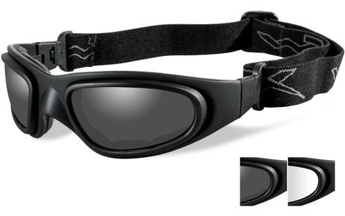 Matte Black Frame/Smoke & Clear Lenses