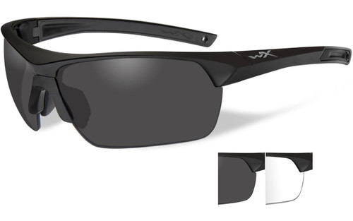 Smoke Grey & Clear Lenses/Matte Black Frame
