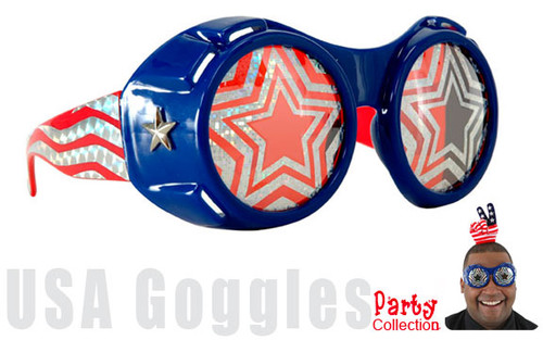 USA Patriotic Party Goggles