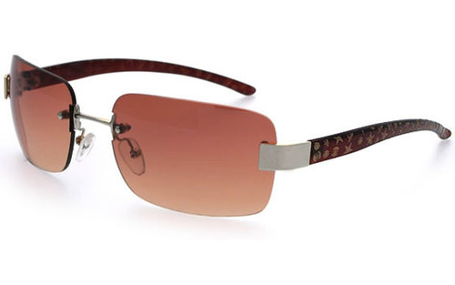 Brown Frame with Silver Trim/ Brown Lens