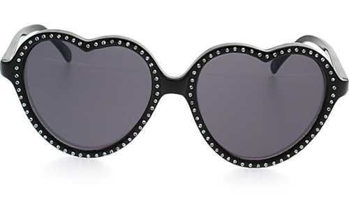 Black Frame with Rhinestones/Smoke Lens
