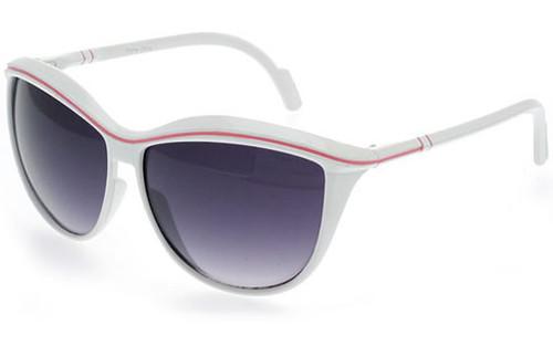 White-Pink Frame/Smoke Lens