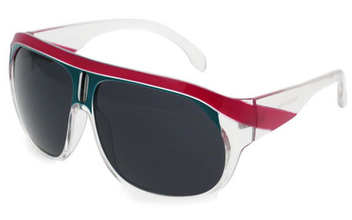 Clear-Pink Turquoise  Frame/Smoke Lens