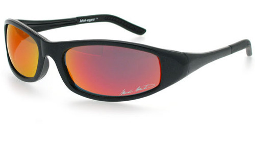 Black Frame/Red Fire Mirror Lens