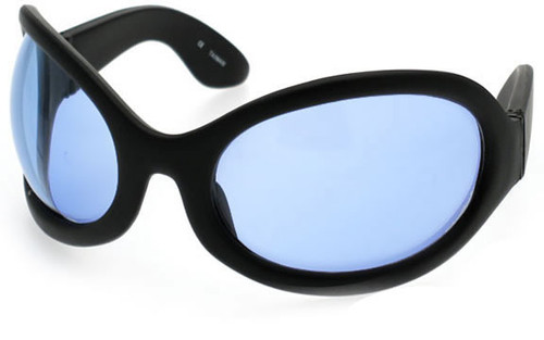 Black Frame/Blue Lens