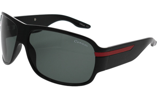Black-Red Frame/Smoke Glass Lens