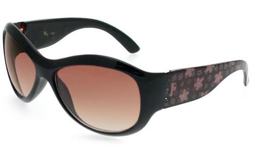 Black Frame/Bronze Bows/Brown Lens